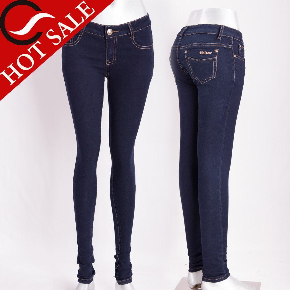 2015 Fashion Latest Jeans Tops Girls With New Design Jeans