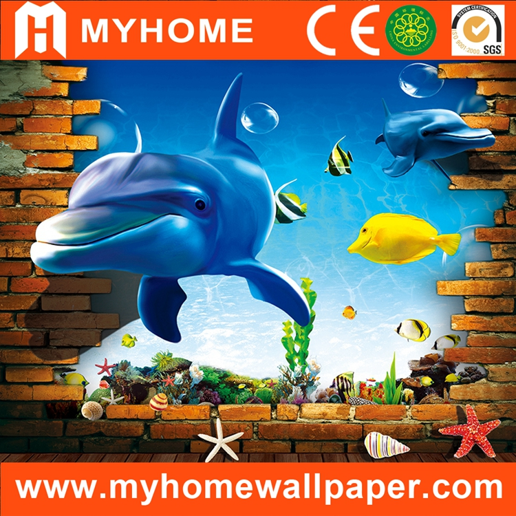 Interior 3d Mural Wallpaper For Wall 3d Fish Buy Wallpaper For Wall 3d Fishinterior 3d Wallpapermural Wallpaper Product On Alibabacom