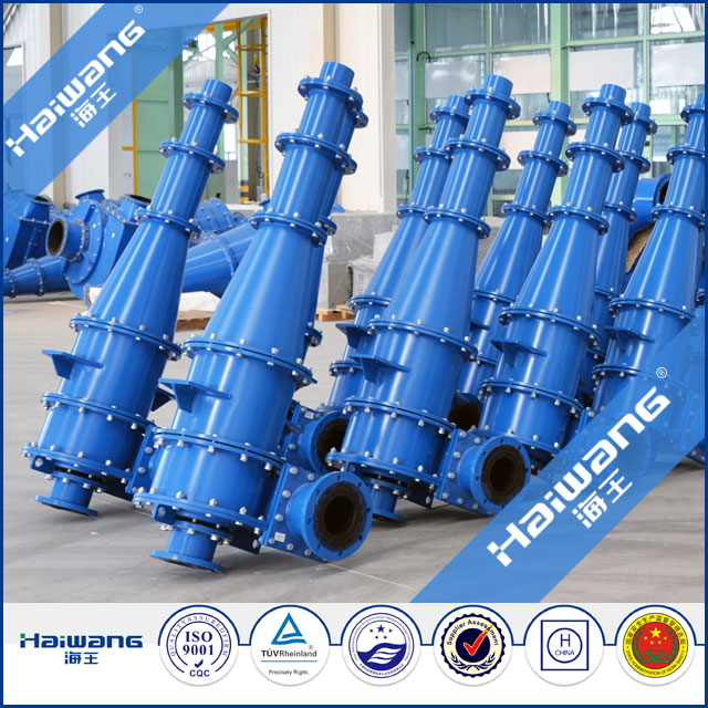 Haiwang Hydrocyclone Oil Water Separator / Hydrocyclone Sizing For Sale