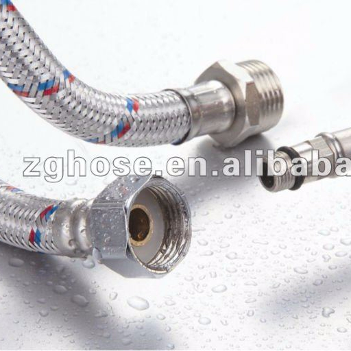 304 Stainless Steel flexible tube pipe Plumbing flexible hose for bathroom
