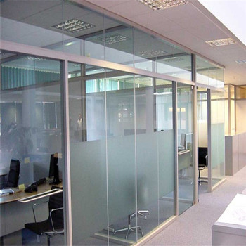 China Factory Tempered Movable Half Frosted Gl Walls Parion