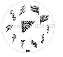 2015 new A Series A01 Nail Art Polish DIY Stamping Plates Image Templates Nail Stamp Stencil