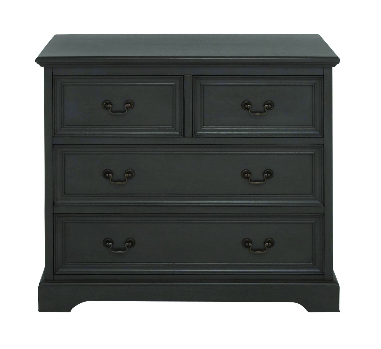 Benzara Chelmsford Classic Wood Chest Drawer, 33.23 by 33.23 by 33.23-Inch, Black