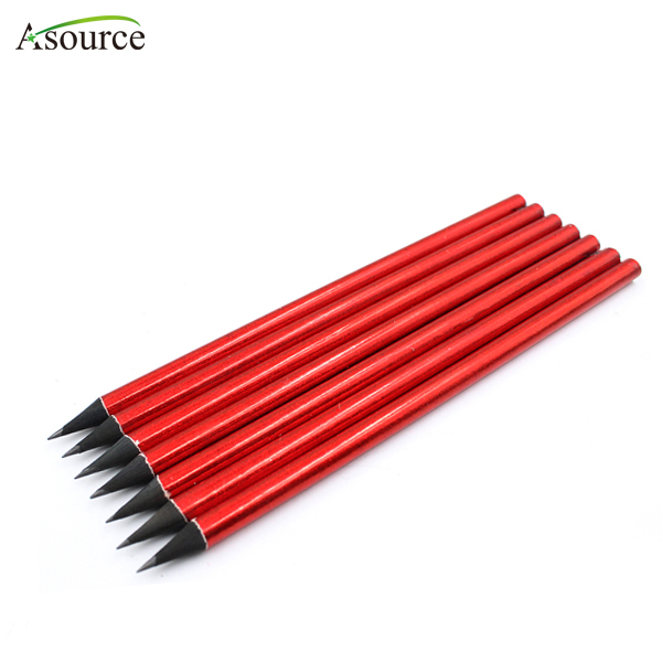 Promotional Good Quality Shining Red Black Wooden Graphite Pencil