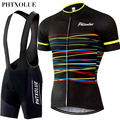 Phtxolue Cycling Sets Cycling Clothing Bike Clothing Breathable Quick Dry Men Bicycle Wear Short Sleeve Cycling