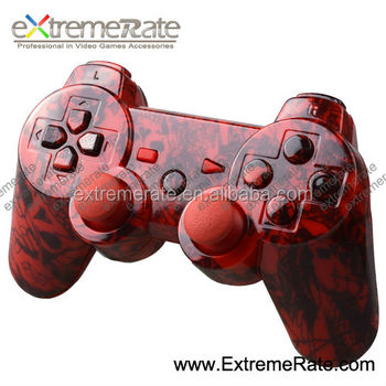 Replacement Water Transferring Wireless Hades Crazy Red Skulls Housing For  Ps3 Controller Shell With Full Set Mod Button Kits - Buy Housing For Ps3