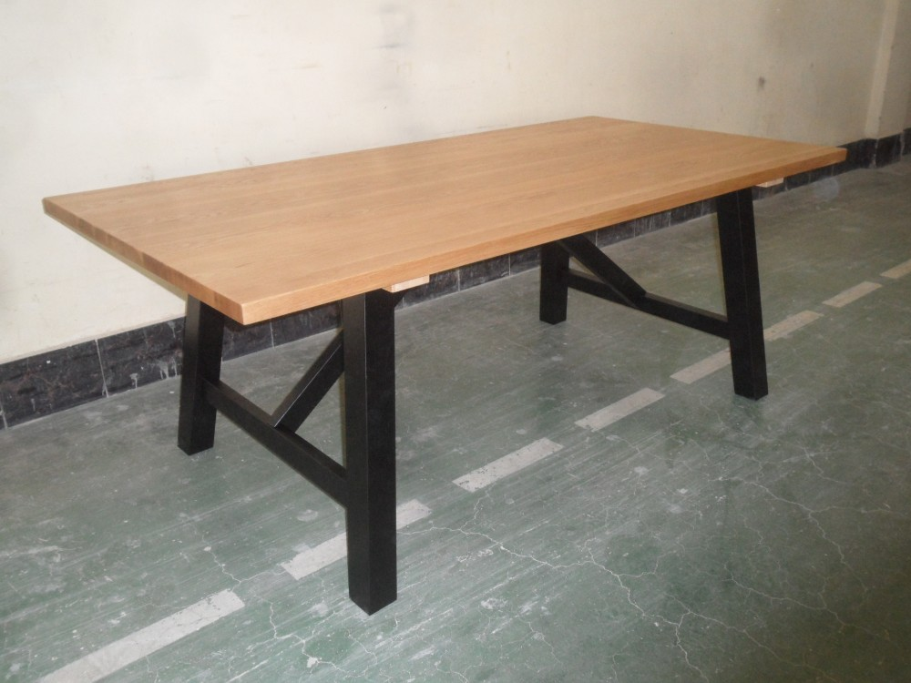 Restaurant Narrow Oak Solid Slab Long Dining Table For Sale Buy Long Dining