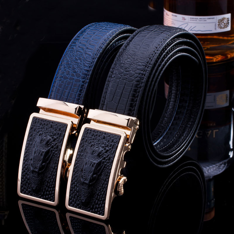 genuine leather black new dress fashion style men's <strong>belts</strong>