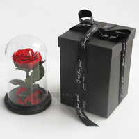 Colorful 100% Real Enchanted Rose in glass dome eternal rose preserved flower