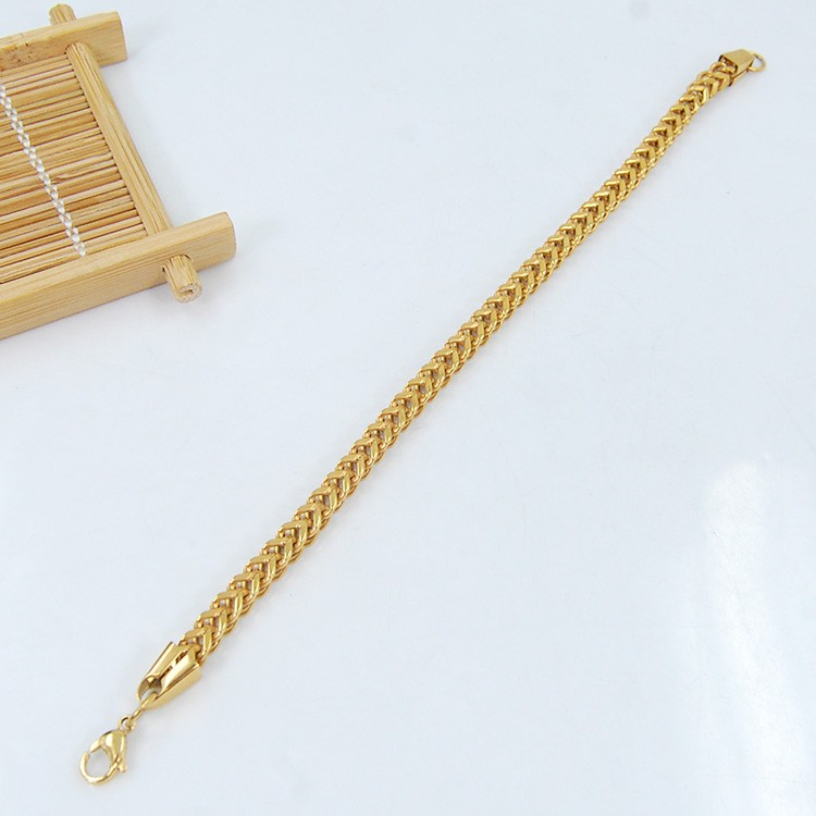 Fashion Stainless Steel Thick Gold Box Chain Necklace Male ... |Tanishq Gold Chain For Men With Price