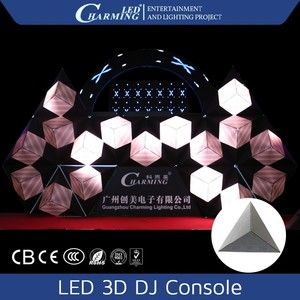 DJ booth portable dj light console led rgb dj light pixel for disco and bar