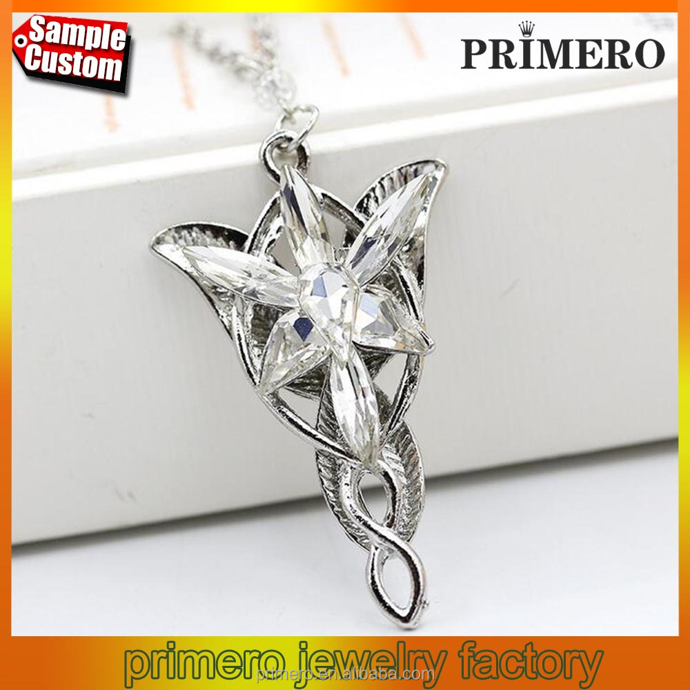 Fashion Jewelry Silver The Lord Of The Film Arwen Evenstar Arwen Pendant necklace