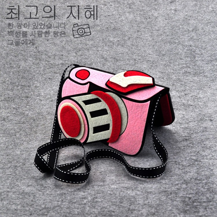 Childrens Toys Bag Girl Boy Creative 3d Camera Non-woven Fabricc Plush Shoulder Bags Baby Accessories 14*17cm Plush Backpacks Dolls & Stuffed Toys