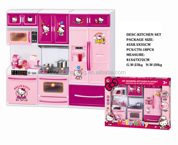 Kids plastic mini kitchen set toy buy kids cooking play for Kitchen set game