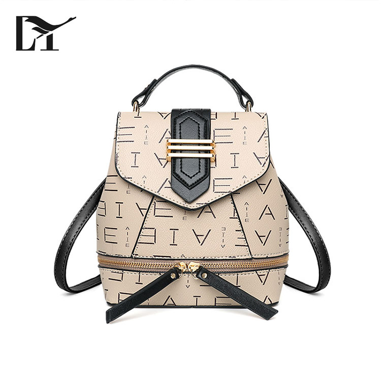 Small Promotion Leather OEM Luxury Korean Wholesale China Ladies Vintage Mini Backpack