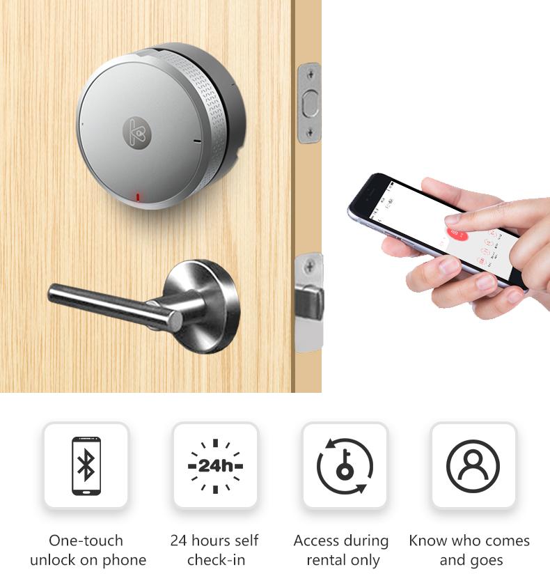 Aplikasi Tanpa Kunci Acess Elektronik Smart Door Lock Smart Lock dengan Sensor