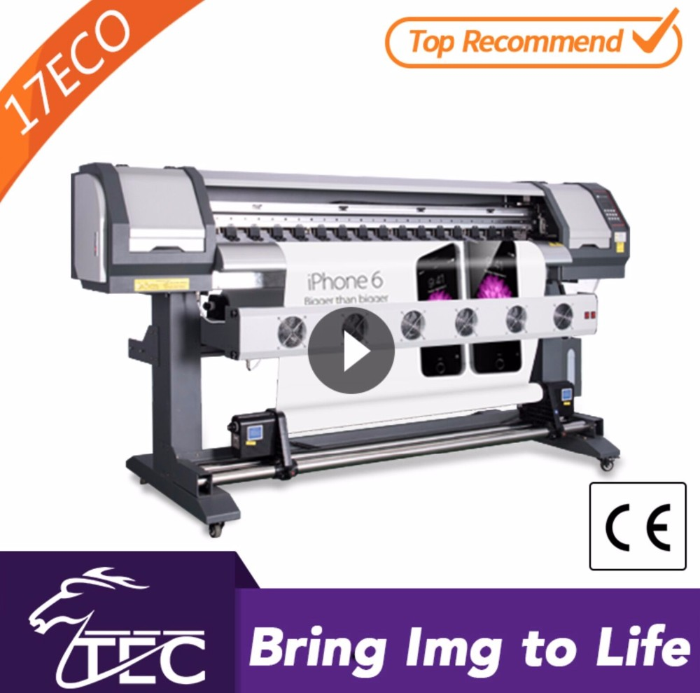 factory directly sale 1.6M VINYL STICKER PRINTING MACHINE, INDOOR OUTDOOR printer1440DPI HIGH RESOLUTION HIGH SPEED