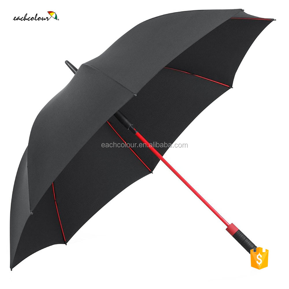 Promotional and subway Golf umbrella windproof auto open straight Golf Umbrellas