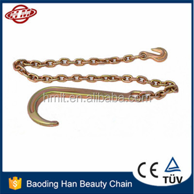 G80 Chain with J hook and eye grab hook