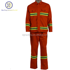 High Visibility FR Protective Working Clothing Firemen Uniform
