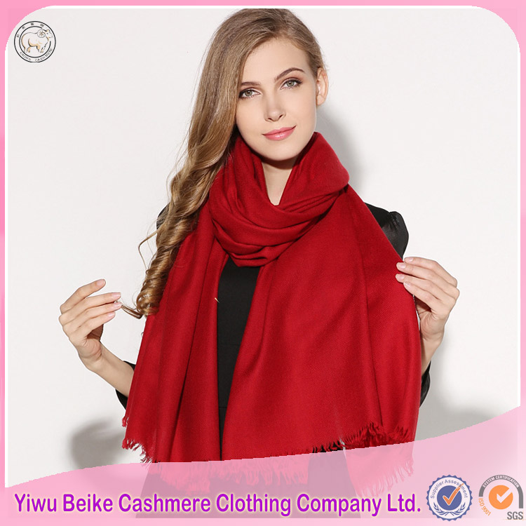Professional manufacture supply fancy plain scarf women pashmina