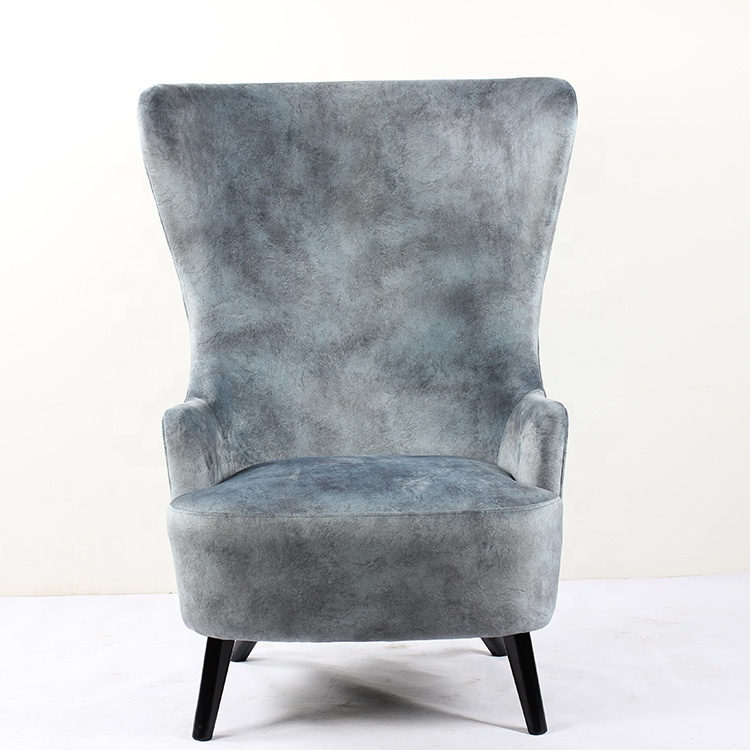 Single Comfortable Pouf High Back Modern Fabric Leisure Armchair Room Grey Accent Furniture Wing Chair Buy Wing Chair Funiture Home Modern Velvet Wooden Design Restaurant Hotel Furniture Bedroom Set Arm Chair Fabric