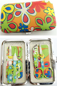 Color decoration 5 in 1 mesa manicure set for women pocket grooming kits