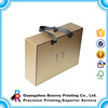 Cardboard luxury bag box printing with handle