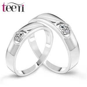 Teemi Top Quality Silver Wholesale S925 Silver Ring Jewelry Man Fashion CZ Diamond Couple Ring
