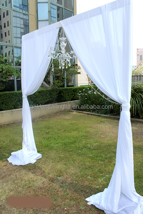 Outdoor Event Wedding Aluminum Backdrop Stand Pipe Drape For Trade Show Booth