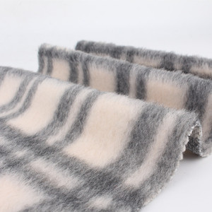 High level Wool woolen mohair blend knitted fabric for jacket