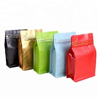 wholesale factory coffee bag design resealable coffee packaging bag with valve