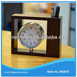 Retro art wooden corporate gifts clock