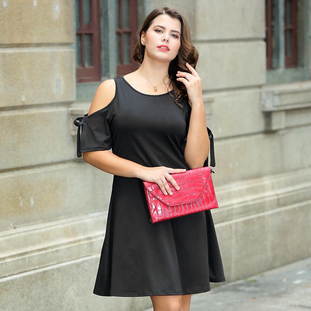 f52b7950abba0 Summer Off The Shoulder Slip Dress For Women Bowknot Short Sleeve ...