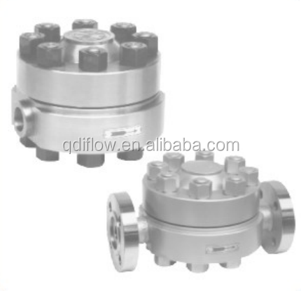 High-temperature/-pressure disc type steam trap