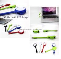 4 PORTS USB HUB WITH LED LAMP usb 2.0 4 port hub