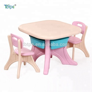 New design living room children furniture colorful plastic kids table and chair for study