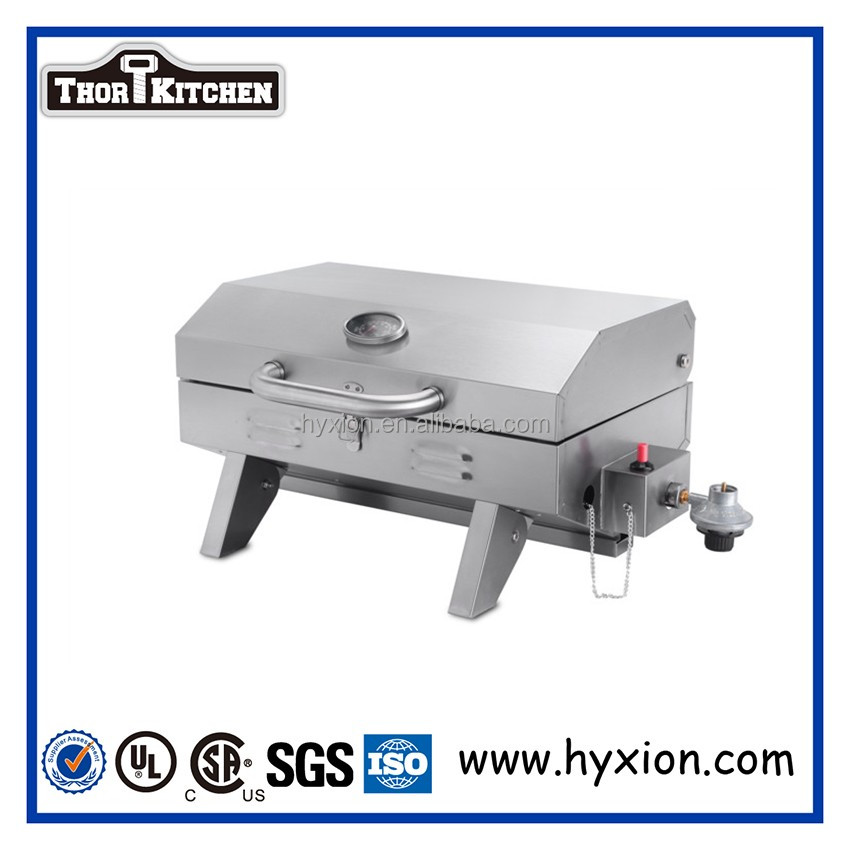 Hyxion Infrared Urban Gas Grill with Folding Side Shelves