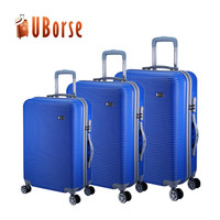 Hard shell luggage bag case, abs pc trolley suitcase, travel luggage set