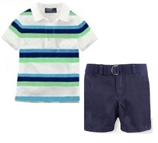 334ba7640293 Buy Hot Sale Children Brand Name Clothing Sets Boys Short Sleeve Polo T  Shirt + Shorts Set Summer New Style Boy  39 s Casual Outwear in Cheap Price  on ...
