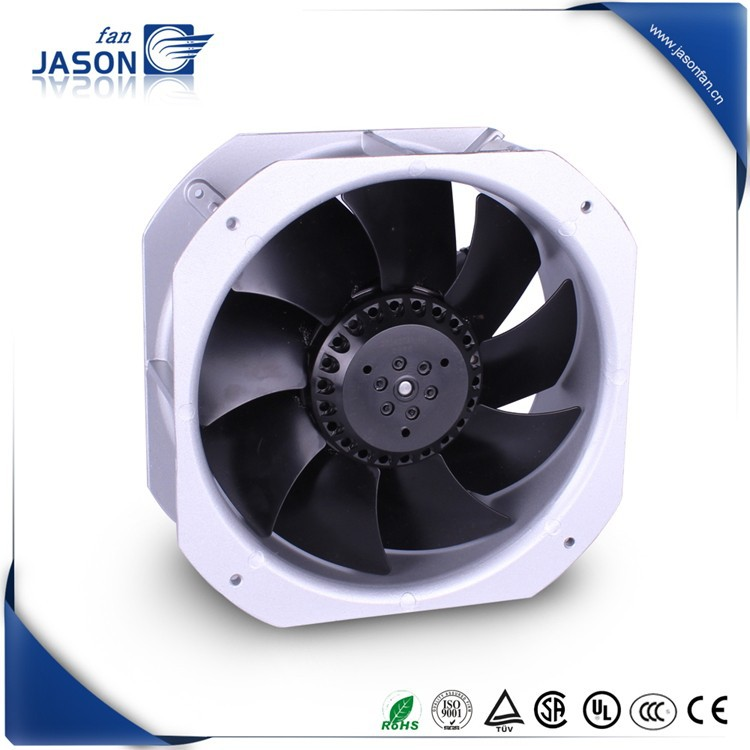 AC Industrial Cooling Exhaust 225mm 225mm 80mm IP55 Metal blade compact axail fan