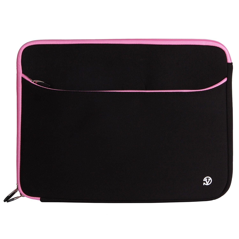 VanGoddy Neoprene Sleeve Cover for Lenovo 14-inch Laptops & Ultrabooks (Pink Trim)
