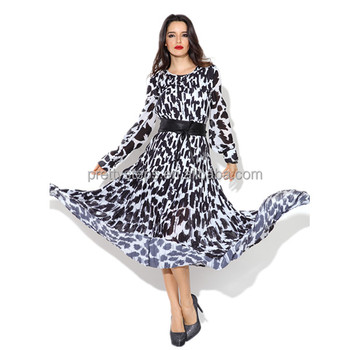 Pretty Steps 2019 Wholesale Casual Long Sleeve Printed Maxi Party Dresses On Sale