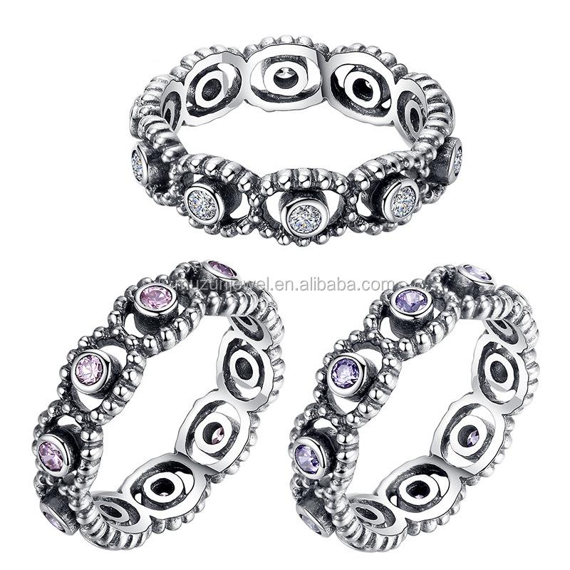 anillos imitacion pandora plata