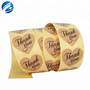 Thank You Heart Labels Adhesive Letters Sticker Box Logo Sticker