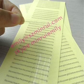 Cutom Transparent Long Strip Size Labels With Grey Printing,Custom  Transparent Label Printing,Self