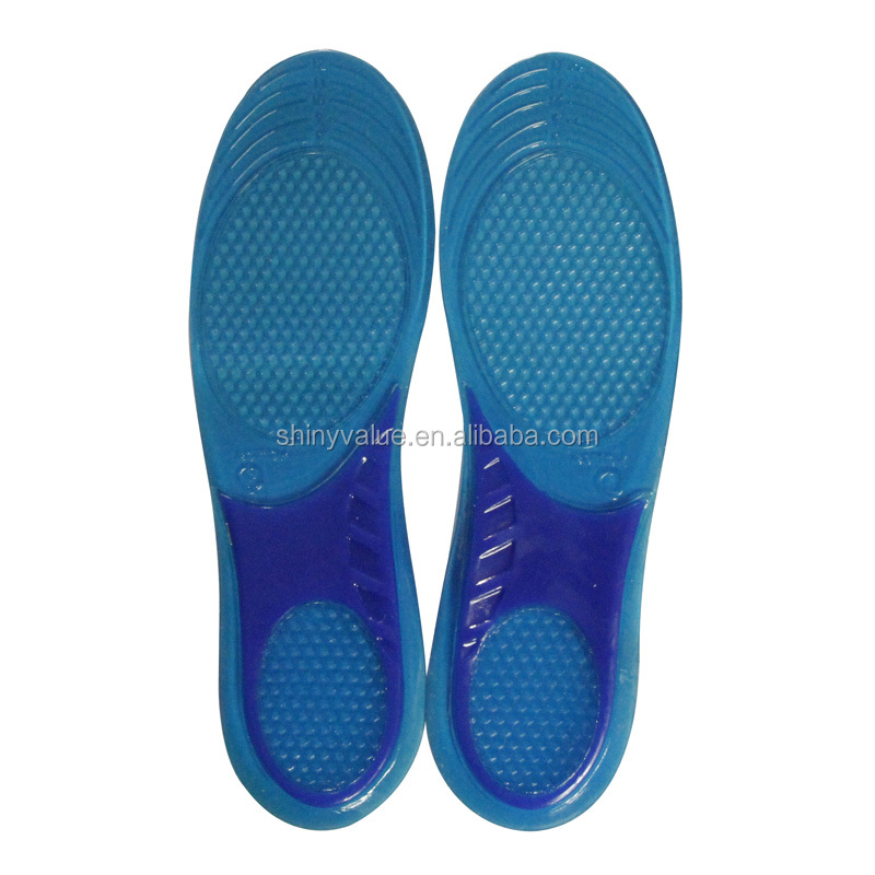 High Quality Cuttable Assorted Sizes TPE Gel Type Gel Insole With Arch Support