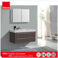 600 Modern lacquer single bowl wall mounted bathroom vanity for house