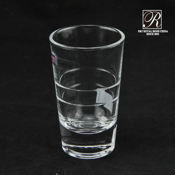 good quality drink cups clear color glass water cups