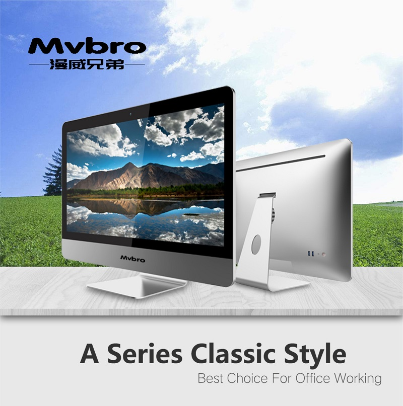 Barebone system desktop all in one 21.5/22 inch FHD screen aio support intel core cpu win 10 OS high quality personal computer